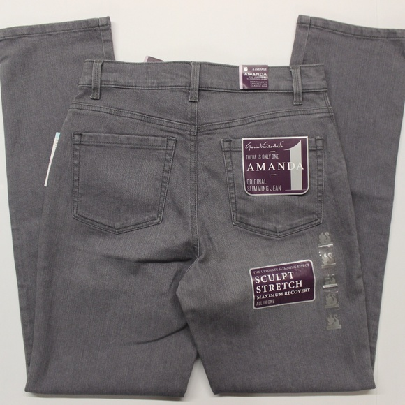 Lunar Wash 14 Average Gloria Vanderbilt Women/'s Amanda Classic Tapered Jeans